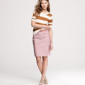 J. Crew Light Pink Cotton Pencil Skirt Size 6